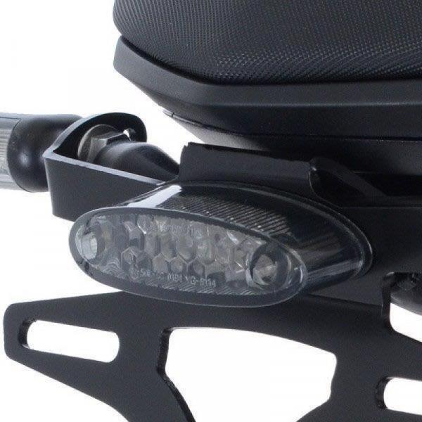 R&G Kennzeichenhalter LED Rücklicht getönt für R&G Duke 790 Kennzeichenhalter