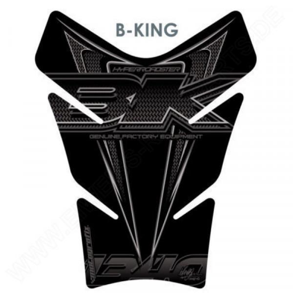 Motografix Suzuki B-King Black Oversized 3D Gel Tank Pad Protector TS017Z