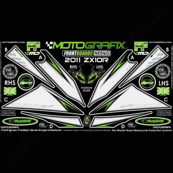 Motografix Steinschlagschutz vorn Kawasaki ZX-10 R 2011-2015 NK016G