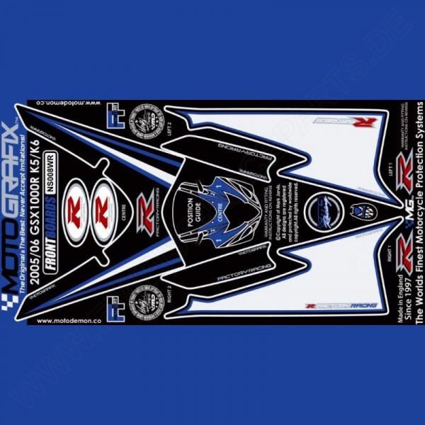 Motografix Steinschlagschutz vorn Suzuki GSX-R 1000 2005-2006 NS008WR