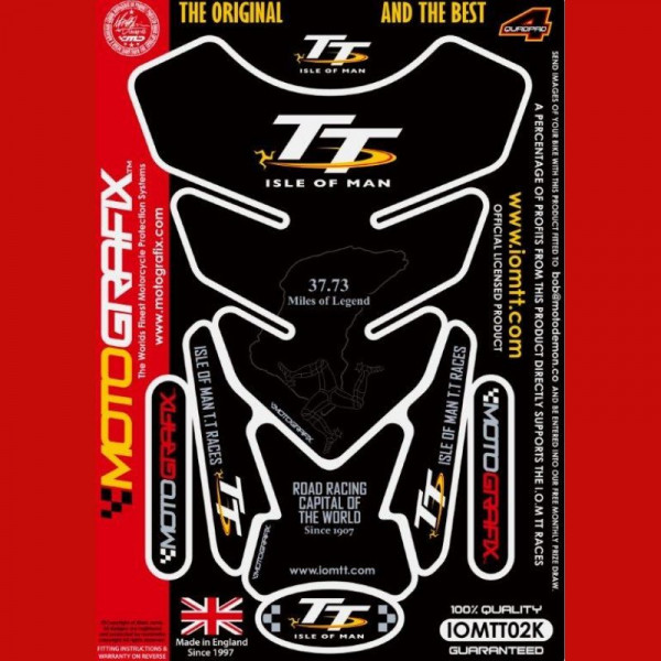 Motografix Isle Of Man TT Races Official Licensed 3D Gel Tank Pad Protector IOMTT02K