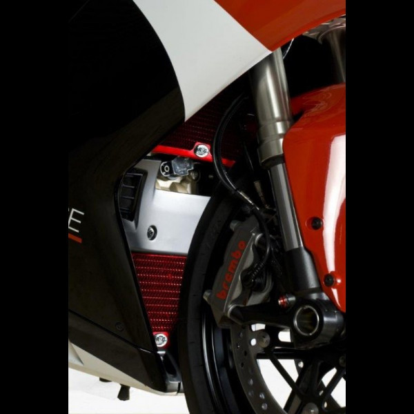 "R&G Kühlergitter Set ""RED"" Wasser & Öl Ducati 848 1098 1198"
