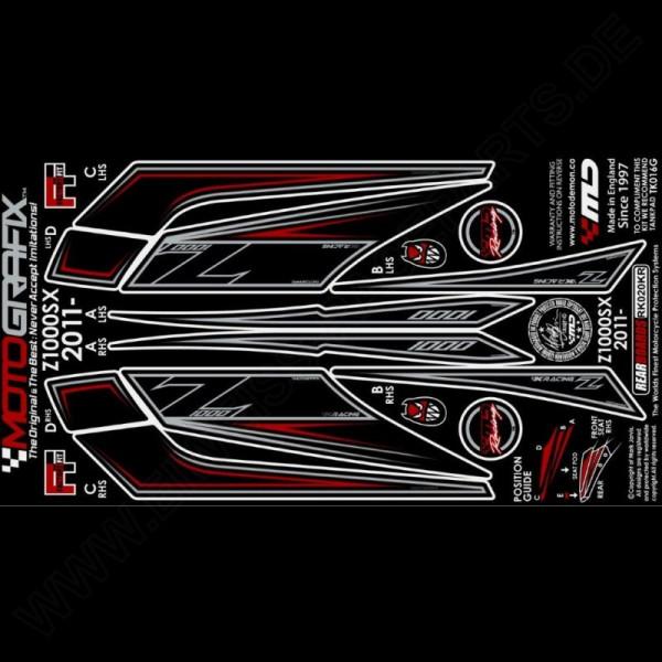 Motografix Steinschlagschutz hinten Kawasaki Z 1000 SX 2011-2016 RK020KR