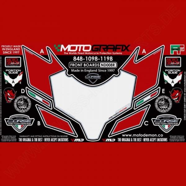 Motografix Steinschlagschutz vorn Ducati 848 / 1098 / 1198 ND008R