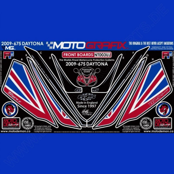 Motografix Steinschlagschutz vorn Triumph Daytona 675 2009-2012 NT003UJ