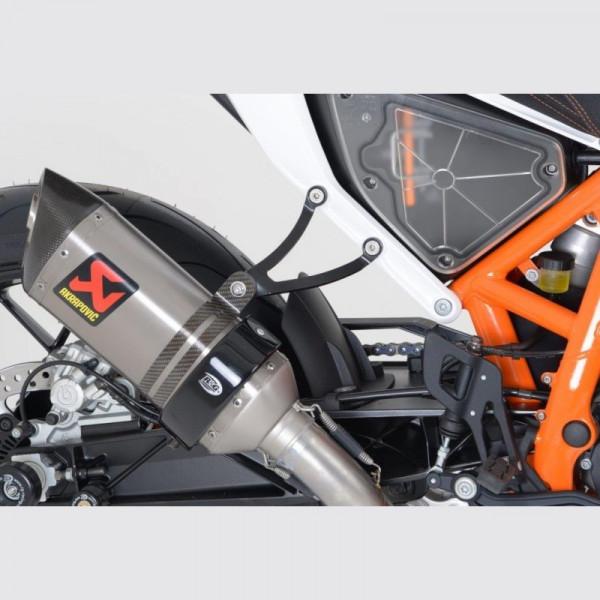 R&G Racing Auspuffhalter BLACK KTM Duke 690 / 690 R 2012-