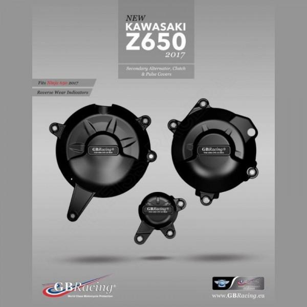 GB Racing Motor Protektor Set Kawasaki Z 650 / Ninja 650 2017-
