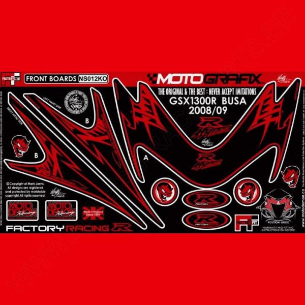 Motografix Steinschlagschutz vorn Suzuki Hayabusa 2008- NS012KO