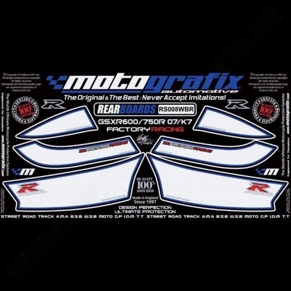 Motografix Steinschlagschutz hinten Suzuki GSX-R 600 / 750 2006-2007 RS008WBR
