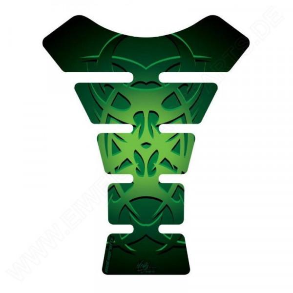 Motografix Celtic Tribal Tattoo Green 3D Gel Tank Pad Protector ST058G