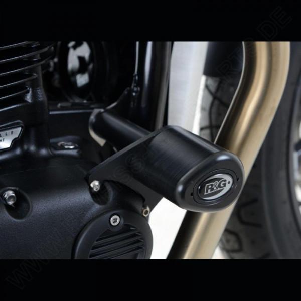 "R&G Sturzpads ""No Cut"" Triumph Thruxton 1200 / R / Street Twin / T100 / T120 Bonneville"
