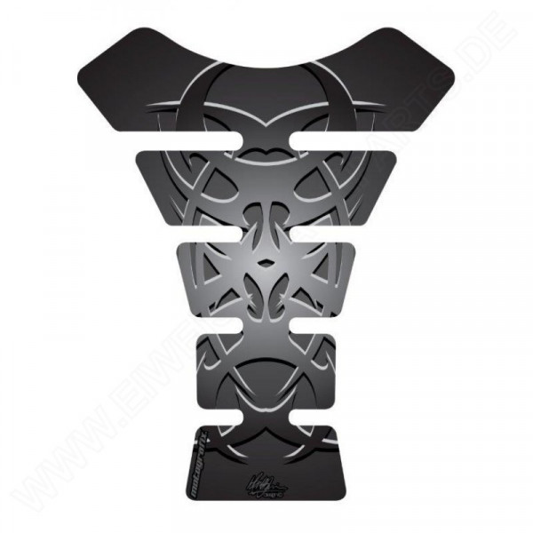Motografix Celtic Tribal Tattoo Silver / Black 3D Gel Tank Pad Protector ST058KS
