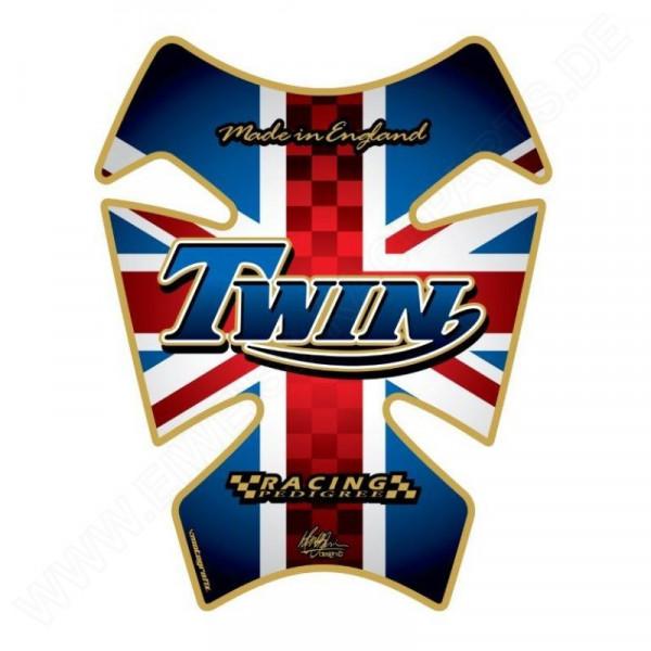 Motografix Triumph Twin Style Union Jack 3D Gel Tank Pad TT008J