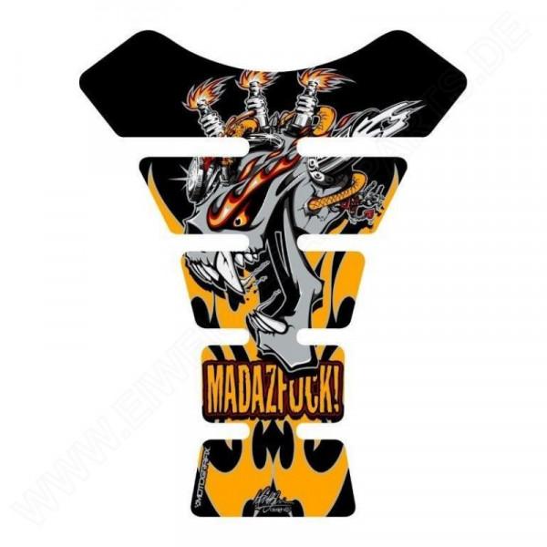 Motografix Mad Az F**K Gashead Yellow / Black 3D Gel Tank Pad Protector ST020Y