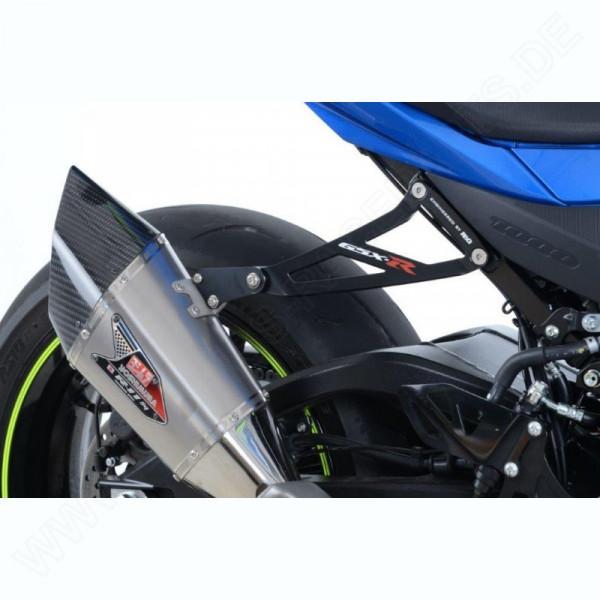 R&G Racing Auspuffhalter Set BLACK Suzuki GSX-R 1000 2017-